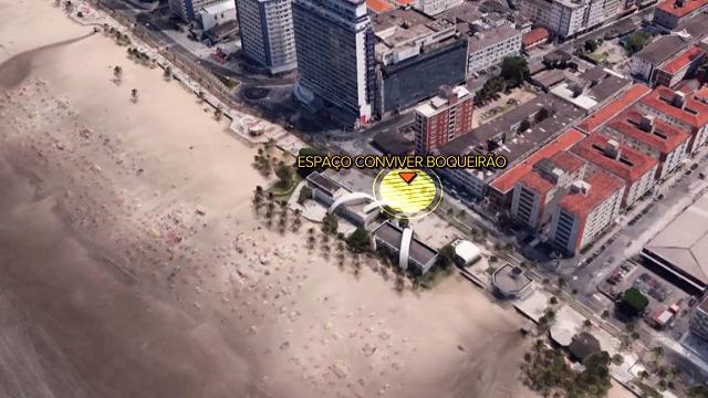 Praia Grande será a primeira cidade a receber a tocha olímpica (Foto: Reprodução/TV Tribuna)