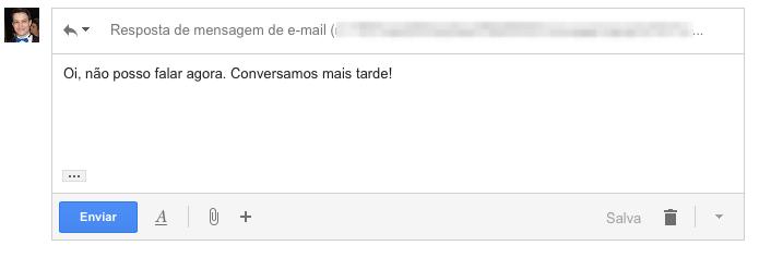 Respondendo e-mail automático do Facebook (Foto: Reprodução/Helito Bijora)