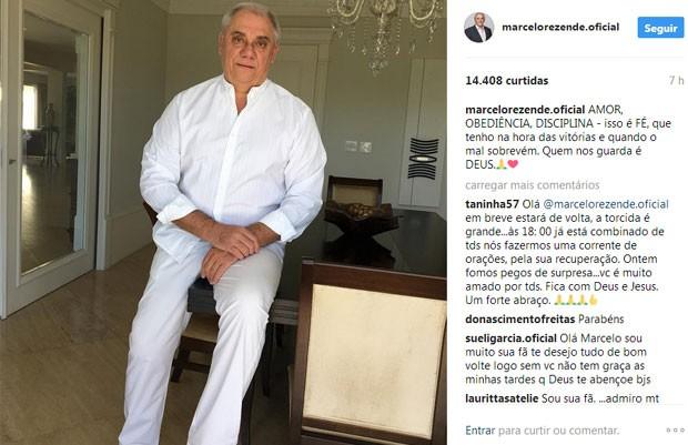 Marcelo Rezende passou mal na segunda-feira (Foto: Reprodução)