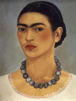 Tela 'Autorretrato con collar' (1933), de Frida Kahlo (Foto: Gerardo Suter/Divulgação)
