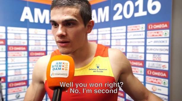 Bruno Hortelano soube que havia se tornado campeão europeu em entrevista  (Foto: reprodução )