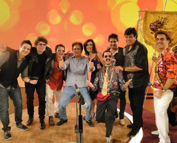 Bregas fazem a festa no 'Encontro' (Foto: Encontro com Fátima Bernardes/TV Globo)