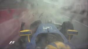 Marcus Ericsson bate no GP do Brasil de Fórmula 1 (Foto: Divulgação)