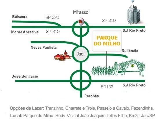 Mapa Festa do Milho (Foto: Reprodução/TV TEM)