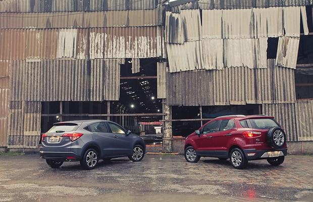 Comparativo Ford Ecosport e Honda HR-V (Foto: Bruno Guerreiro)