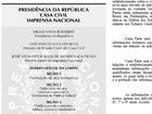'Diário Oficial da União' trata Lula como ministro da Casa Civil