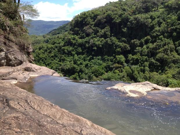 Rio Chuvisqueiro Riozinho RS Nossa Terra (Foto: Luciane Kohlmann/RBS TV)