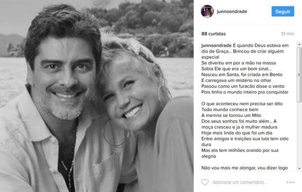 Junno Andrade homenageia Xuxa (Foto: Reprodução/Instagram)