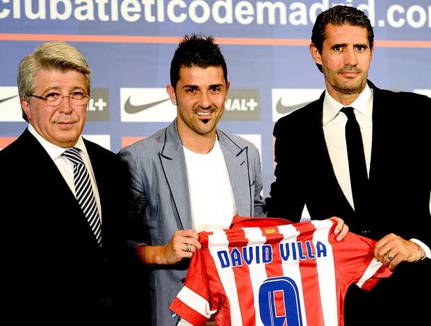 David Villa apresentado no Atletico de Madri (Foto: AFP)