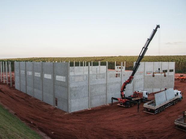 Empresa Madeiranite em fase de construção (Foto: José Mauricio Garijo)