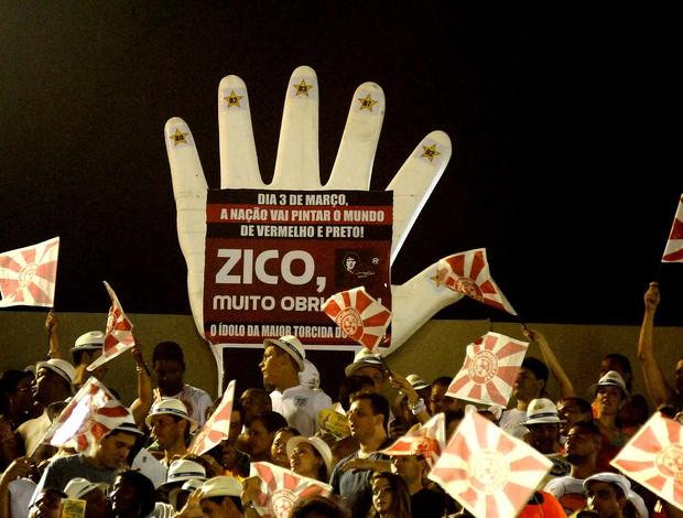 CARNAVAL: Cartaz zico flamengo (Foto: André Durão / Globoesporte.com)