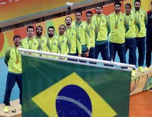 Brasil x Itália pódio (Foto: AP)