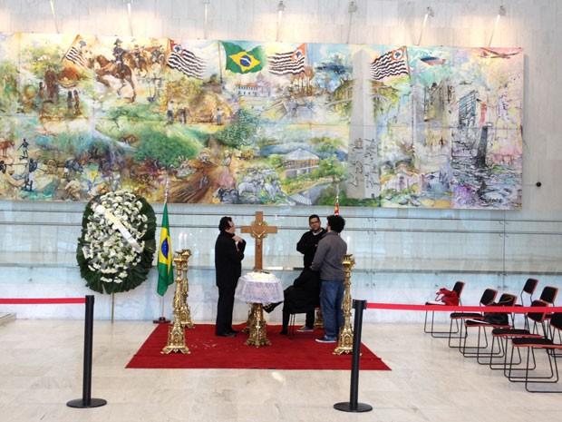 Dominguinhos é velado na Assembleia Legislativa de São Paulo (Foto: Letícia Macedo/G1)