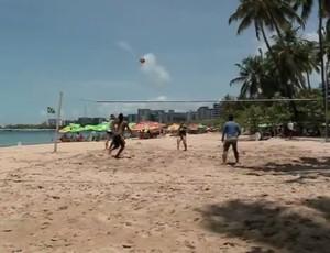 Campeonato Alagoano de Futevôlei será realizado em Arapiraca (Foto: Reprodução/TV Gazeta)