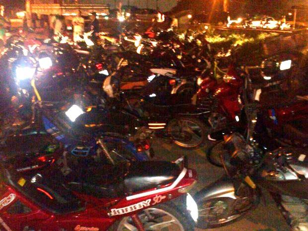 Motocicletas apreendidas foram levadas para o pátio do Detran (Foto: Divulgação/Polícia Militar) (Foto: Divulgação/Polícia Militar do RN)