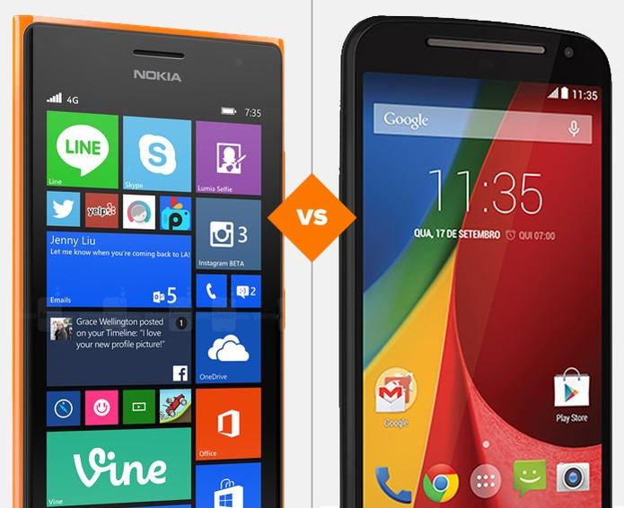 Comparativo entre Lumia 730 e Novo Moto G (Foto: Arte/TechTudo)