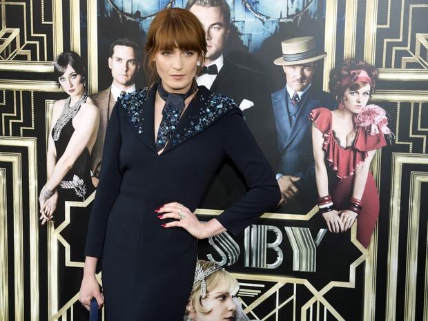 Florence Welch em première de filme em Nova York, nos Estados Unidos (Foto: Don Emmert/ AFP)