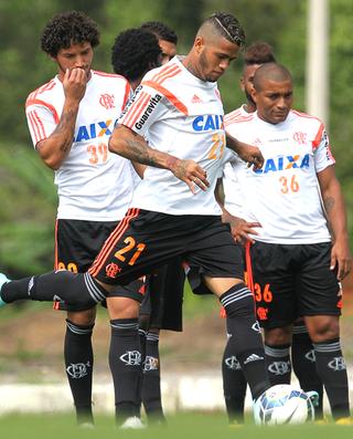 Léo, Treino Flamengo (Foto: Gilvan de Souza / Flamengo)