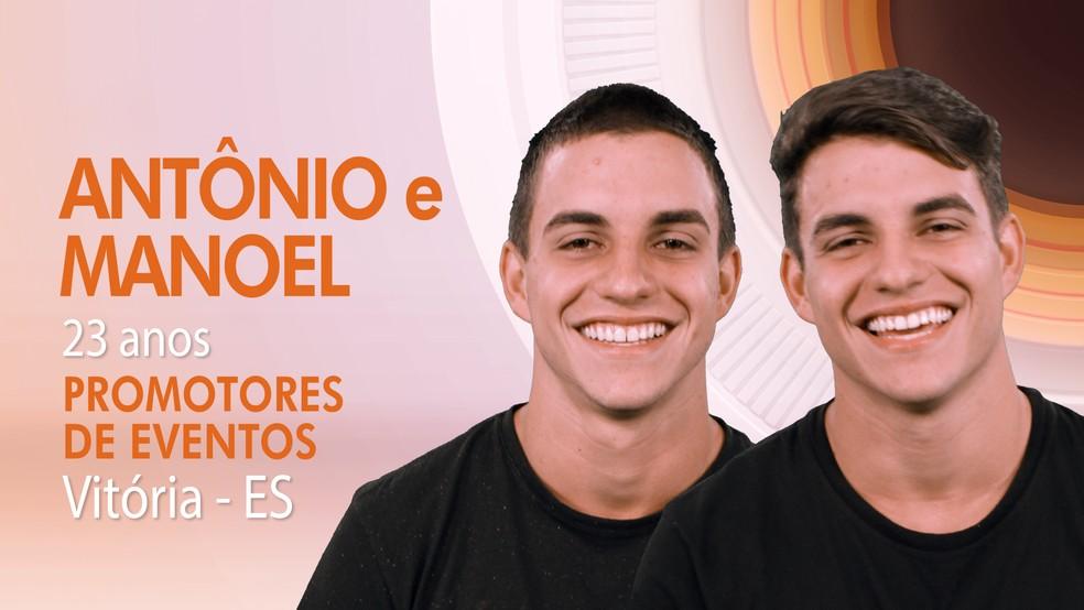 Antônio e Manoel são os gêmeos do 'BBB17' (Foto: TV Globo)