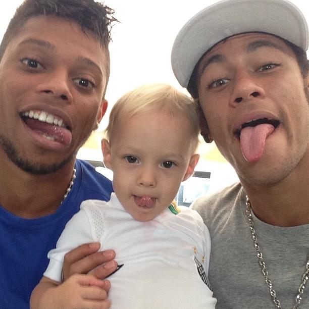 Neymar e filho (Foto: Instagram / Reprodução)