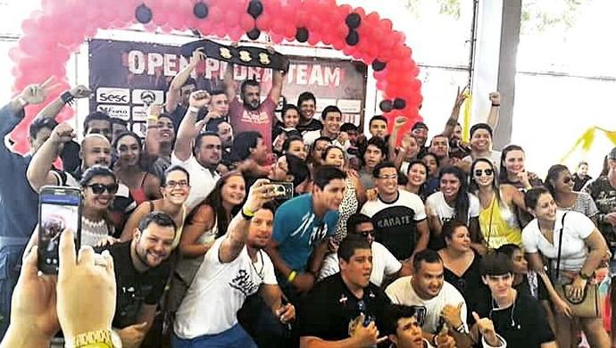 Leonardo Calid vence luta principal do Open Pedra Team (Foto: Reprodução/Facebook)