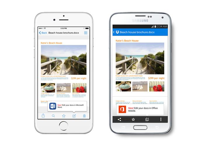 App do Drobpox no iOS e Android agora permite editar arquivos do Office (Foto: Divulgação)