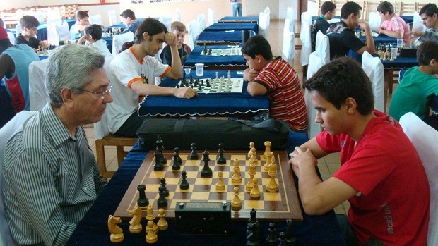 Torneio de Xadrez realizado em 2011, em Ituiutaba. (Foto: Divulga&#231;&#227;o)