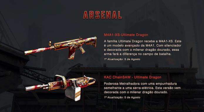 Novas armas também chegara com a atualização (Foto: Reprodução/Z8Games)