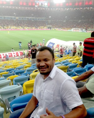 Jonatas estádio Maracanã jogo Flamengo (Foto: Amanda Kestelman)