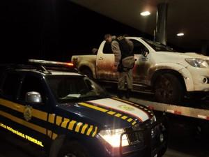 Camionete Clonada (Foto: Polícia Rodoviária Federal/Divulgação)