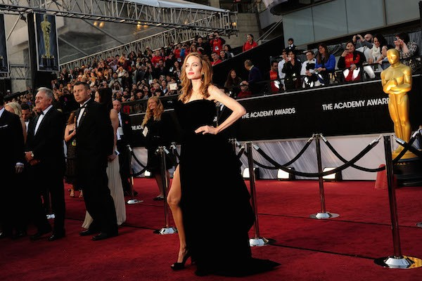 Angelina Jolie no oscar 2012 (Foto: Getty Images)