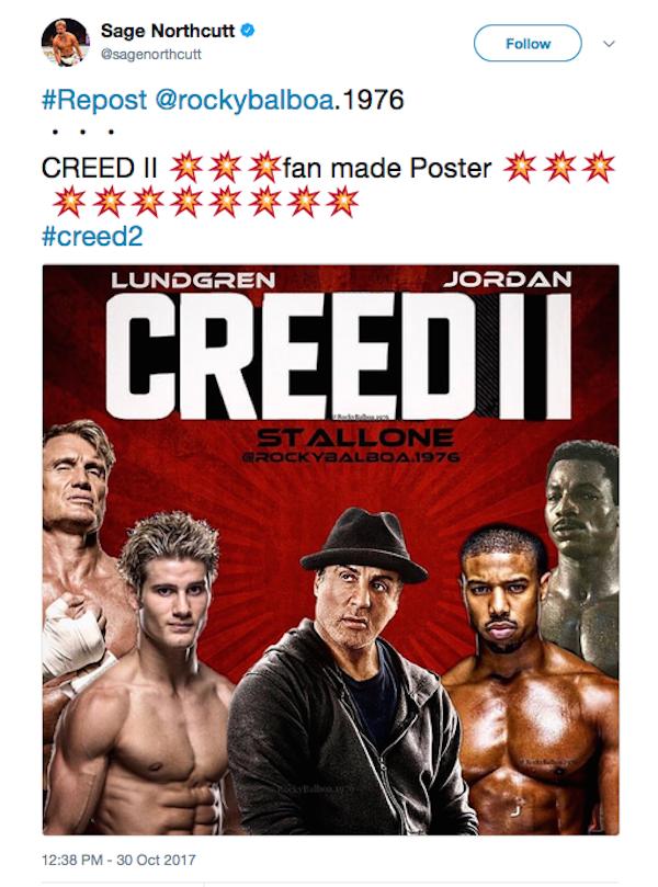 O lutador de MMA que se candidatou para trabalhar com Sylvester Stallone em Creed 2 (Foto: Twitter)