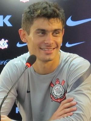 Alex em entrevista coletiva no Corinthians alex corinthians (Foto: Carlos Augusto Ferrari / Globoesporte.com)