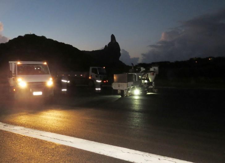 Obra aeroporto de Fernando de Noronha
