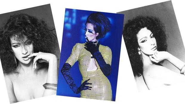 Pioneira no mundo fashion, ela foi musa de vários estilistas. Ao centro, em desfile para Azzedine Alaïa (Foto: Divulgação e Reprodução)