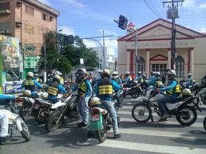 Em Santarém, há 823 mototaxistas cadastrados (Foto: Débora Rodrigues/TV Tapajós)