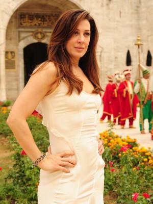 Agenciadora de talentos no mundo da moda e do show business, ela é  figura conhecida do jetset internacional (Foto: João Miguel Jr./ TV Globo)