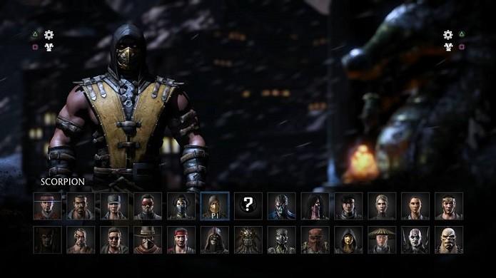 MKX tem vários personagens à disposição (Foto: Reprodução/Thiago Barros)