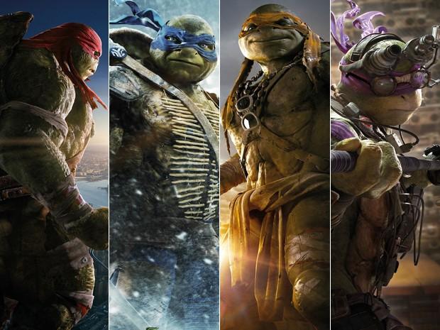 Raphal, Leonardo Michelangelo e Donatello: as Tartarugas Ninja (Foto: Divulgação/Paramount)