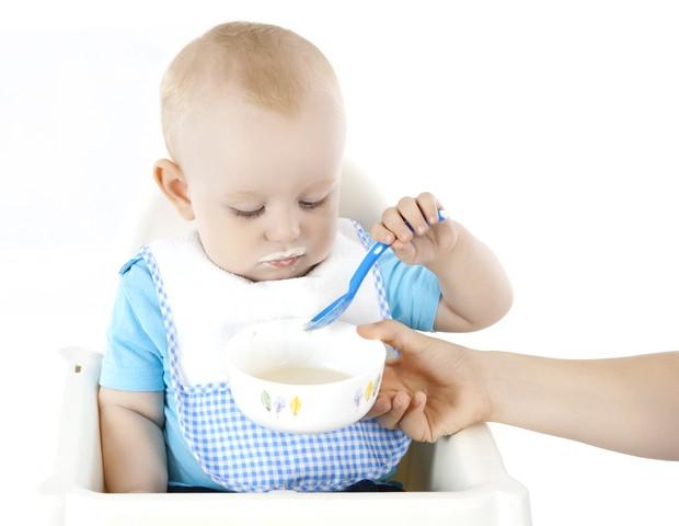 Primeiras papínhas do bebê (Foto: ThinkStock)