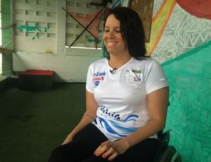 Edênia Garcia - seleção brasileira paralímpica de natação (Foto: Carlos Cruz/GloboEsporte.com)