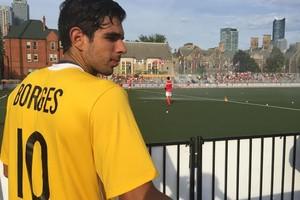 Matheus Borges é o artilheiro e camisa dez da seleção no Pan de Toronto (Foto: GloboEsporte.com)