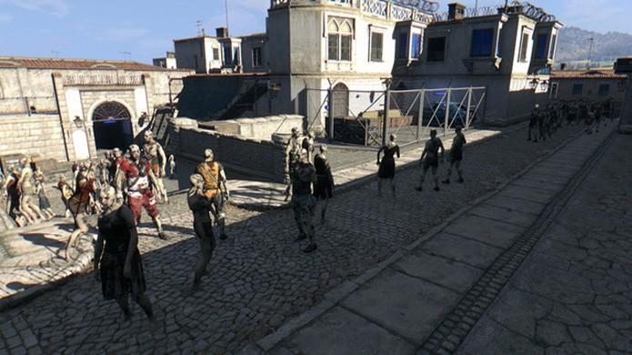 Clássico mapa de_dust2 de Counter-Strike vira antro de zumbis em mod de Dying Light (Foto: Reprodução/Steam)