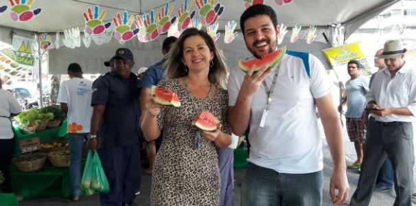 Colaboradores foram conferir a feira em frente a TV Gazeta  (Foto: Divulgação/ Marketing TV Gazeta)