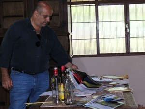 Proprietário da fazenda Madama, Aguinaldo Ribeiro (Foto: Juliene Katayama/G1 MS)