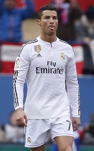 cristiano ronaldo Atletico de Madrid x Real MAdrid (Foto: Reuters)
