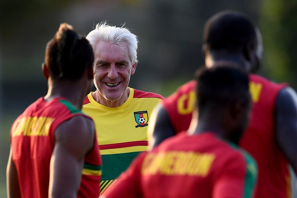 Camarões, 32º do ranking da Fifa, é comandado por Hugo Broos  (Foto: EFE)