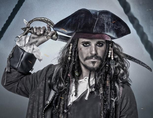 Bruno Gagliasso como Jack Sparrow (Foto: Priscila Prade)