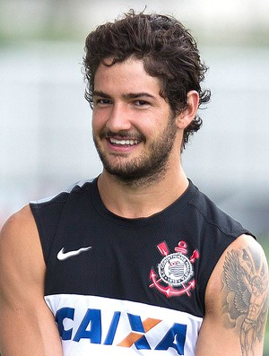 Pato no treino do Corinthians (Foto: Daniel Augusto Jr. / Ag. Corinthians)