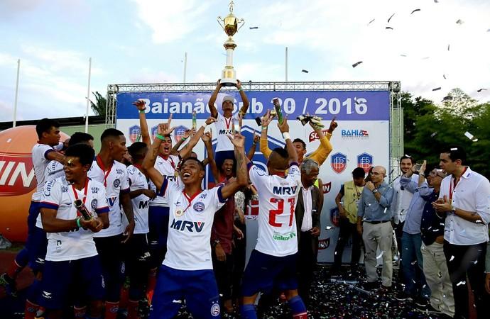 Bahia campeão baiano sub-20 (Foto: Felipe Oliveira / Divulgação / E.C. Bahia)